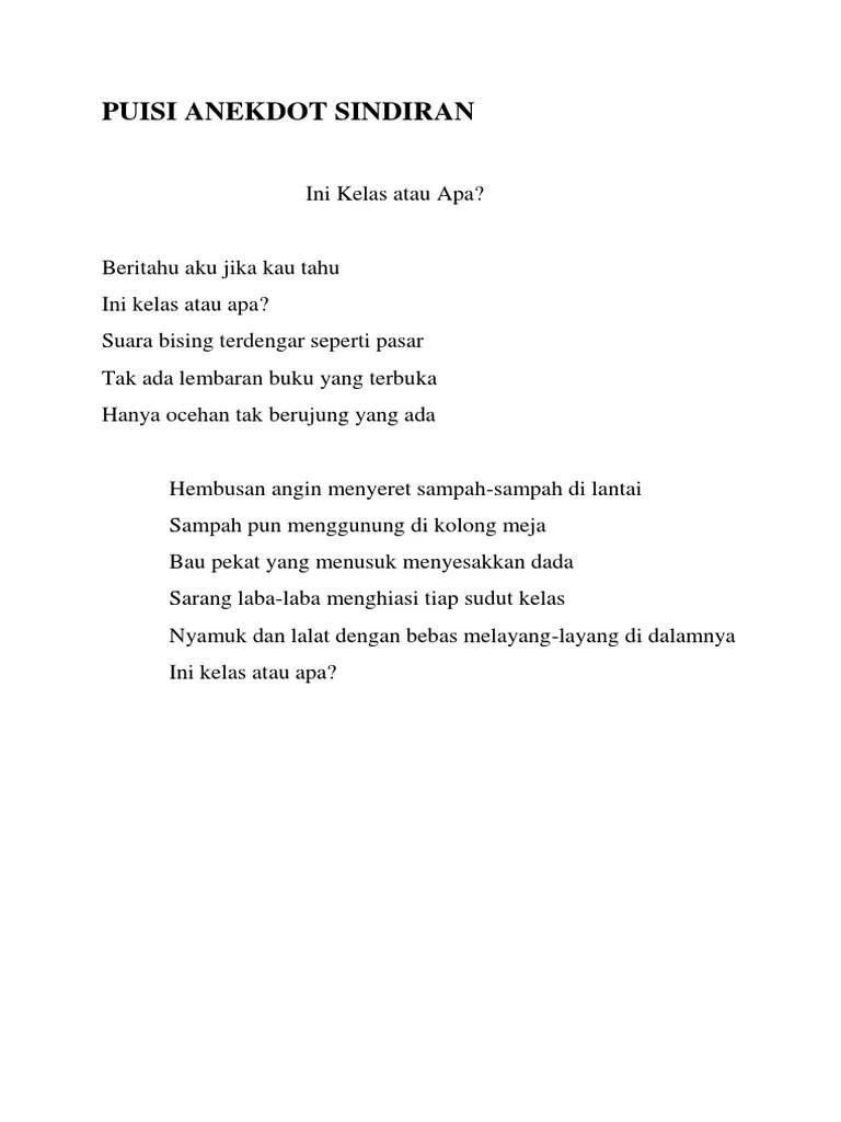 Puisi Anekdot Lucu Banget : puisi, anekdot, banget, Contoh, Puisi, Anekdot