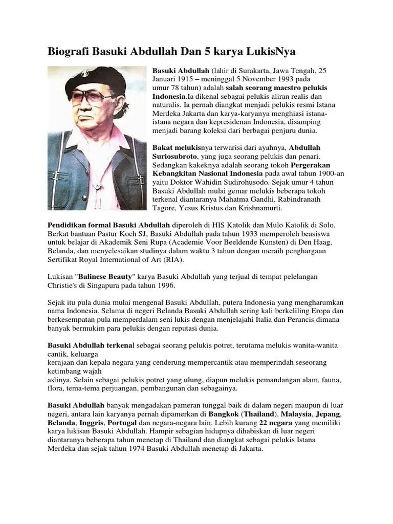 Basuki Abdullah Biografi : basuki, abdullah, biografi, Biografi, Basuki, Abdullah, Karya, LukisNya