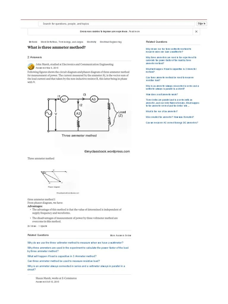 medium resolution of what is three ammeter method quora series and parallel circuits manufactured goods