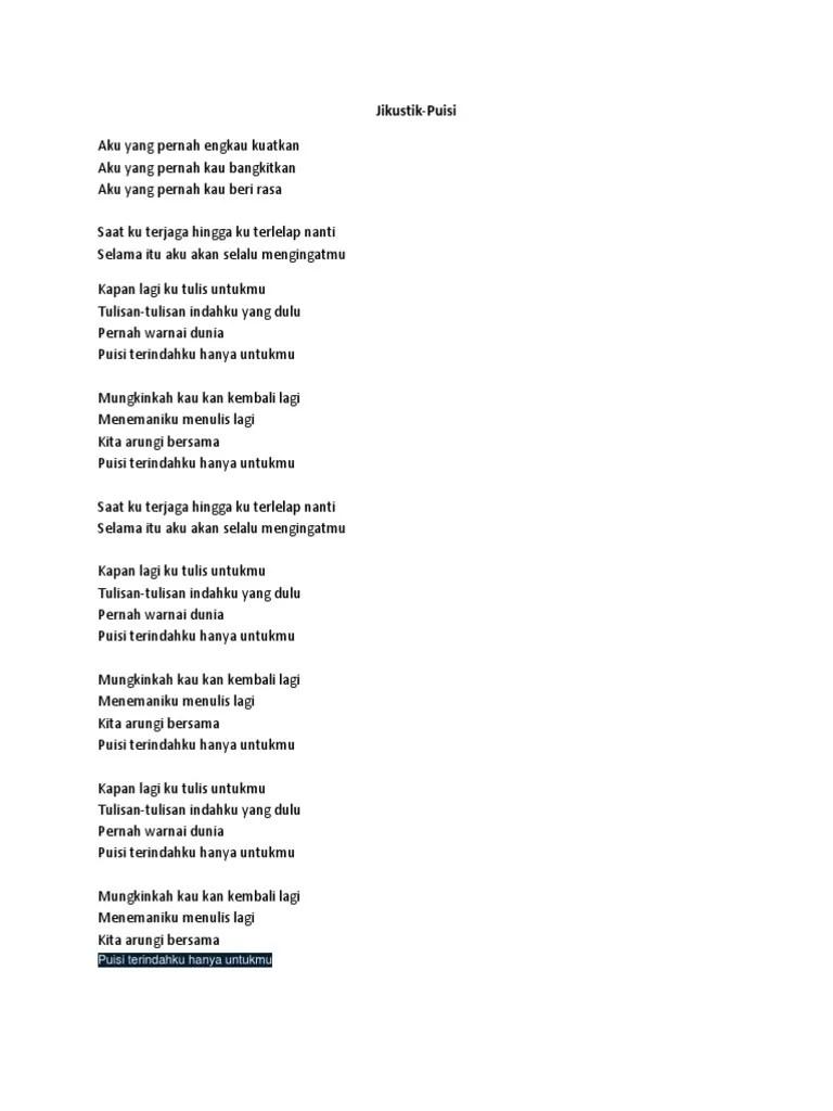 Lirik Jikustik Puisi : lirik, jikustik, puisi, Lirik, Jikustik-puisi