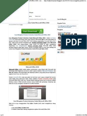Cara Menghilangkan Product Activation Failed Office 2010 : menghilangkan, product, activation, failed, office, Mengatasi, Product, Activation, Failed, Microsoft, Office, Poetra, Yunar, Blog.pdf