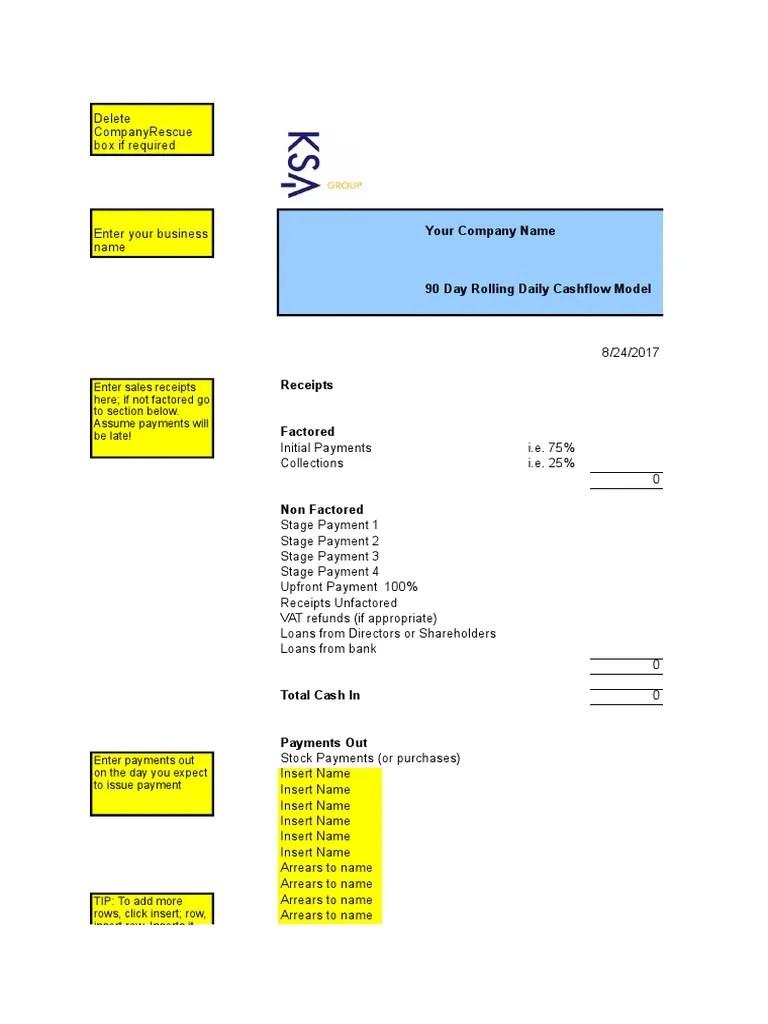 Cash Flow Format C Cashflow Bulanan Xls Cute766