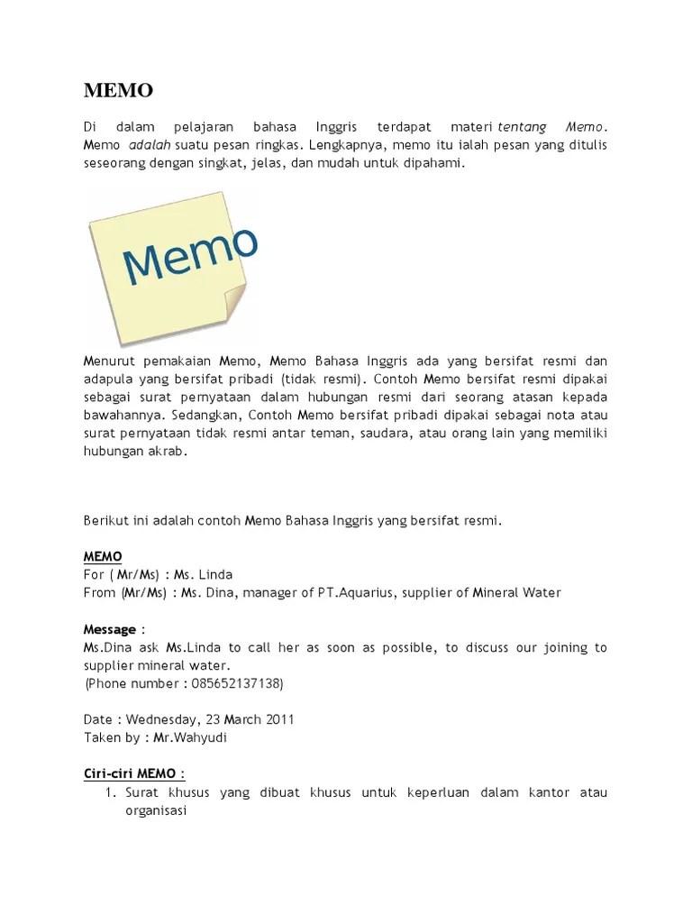 5 Contoh Memo dalam Bahasa Inggris Resmi Terbaru dan