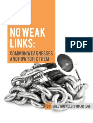 Download No weak links common:weakness and how to fix them