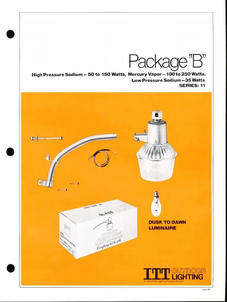 medium resolution of  wiring liry diagram h9 dusk to dawn mercury itt american electric package b dusk to dawn series 11 spec sheet 3 on