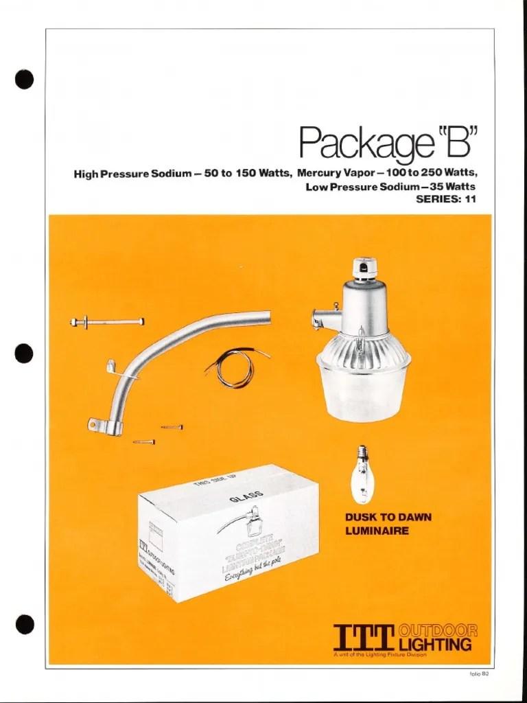 hight resolution of  wiring liry diagram h9 dusk to dawn mercury itt american electric package b dusk to dawn series 11 spec sheet 3 on