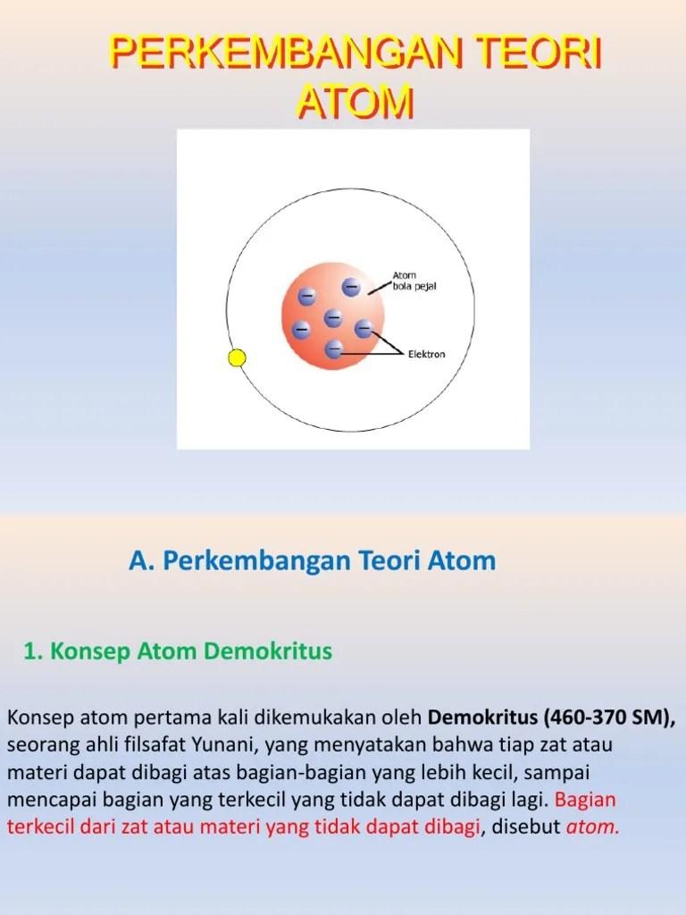 Teori Atom Menurut Para Ahli : teori, menurut, Contoh, Perkembangan, Teori, Respati, Cute766