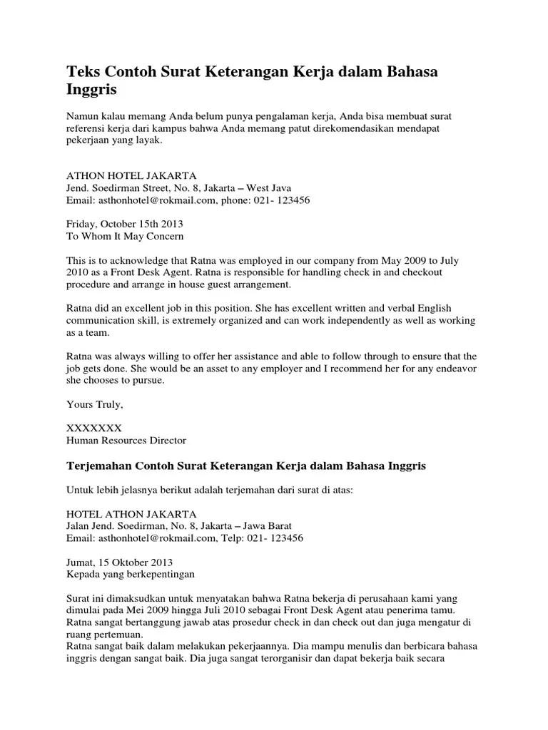 Surat Keterangan Bahasa Inggris : surat, keterangan, bahasa, inggris, Contoh, Surat, Keterangan, Dalam, Bahasa, Inggris, Beserta, Cute766