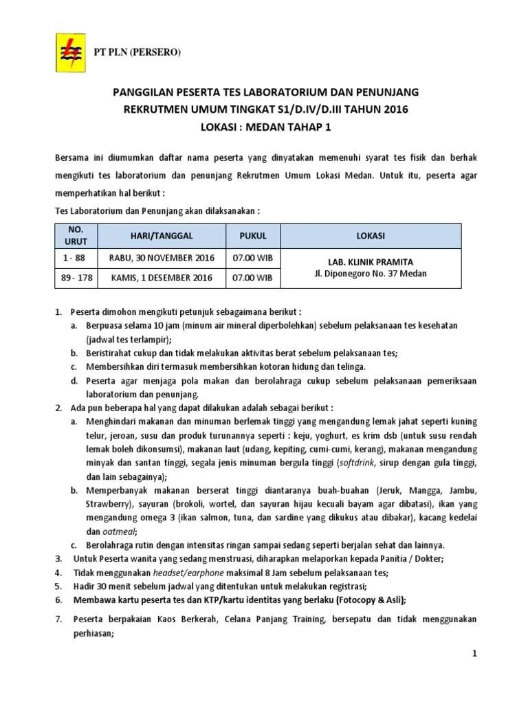 Klinik Pramita Medan : klinik, pramita, medan, Lulus, Fisik, Masuk, Lokasi, Medan, Tahap, Pengumuman