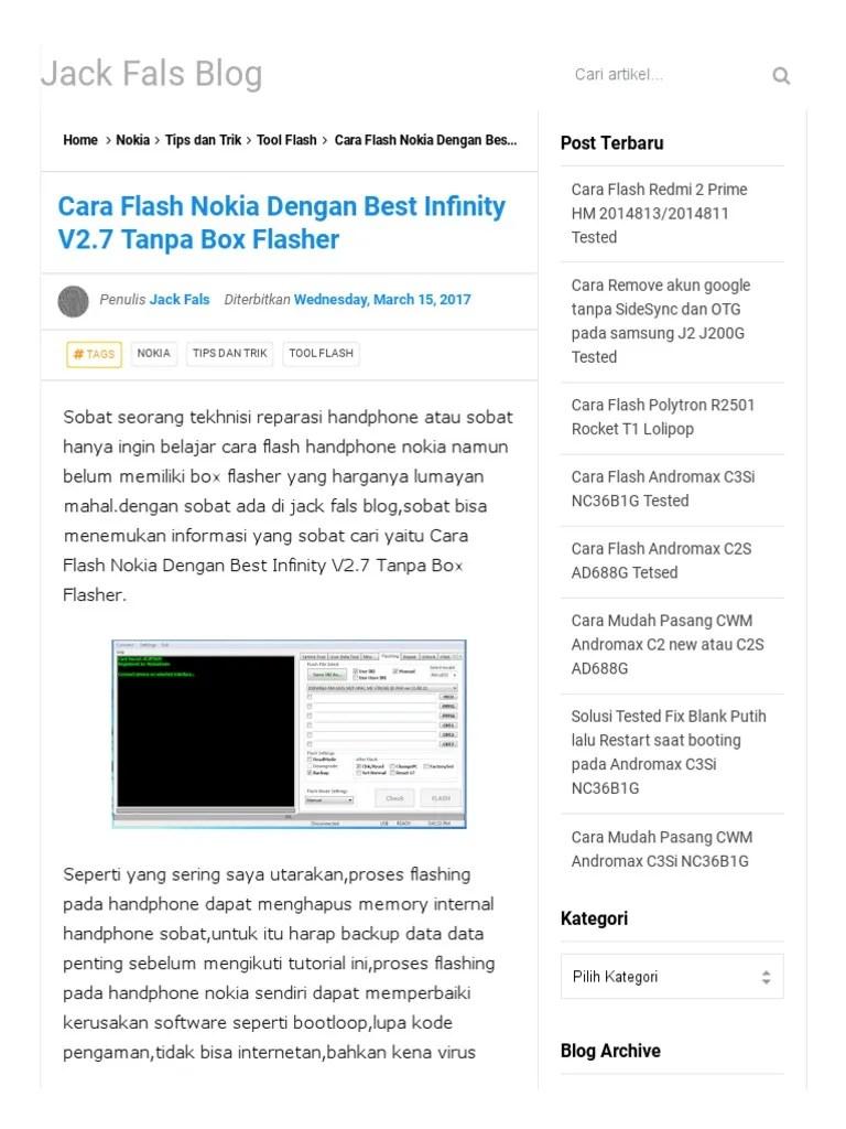 Cara Flash Nokia 220 Dengan Best : flash, nokia, dengan, Flash, Nokia, Dengan, Infinity, V2.pdf