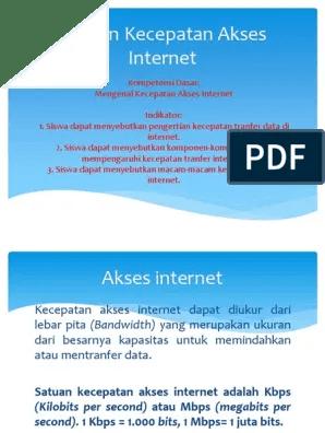 Pengertian Satuan Kecepatan Akses Internet : pengertian, satuan, kecepatan, akses, internet, Dokumen.tips, Ukuran, Kecepatan, Akses, Internet, 568ea4003193c