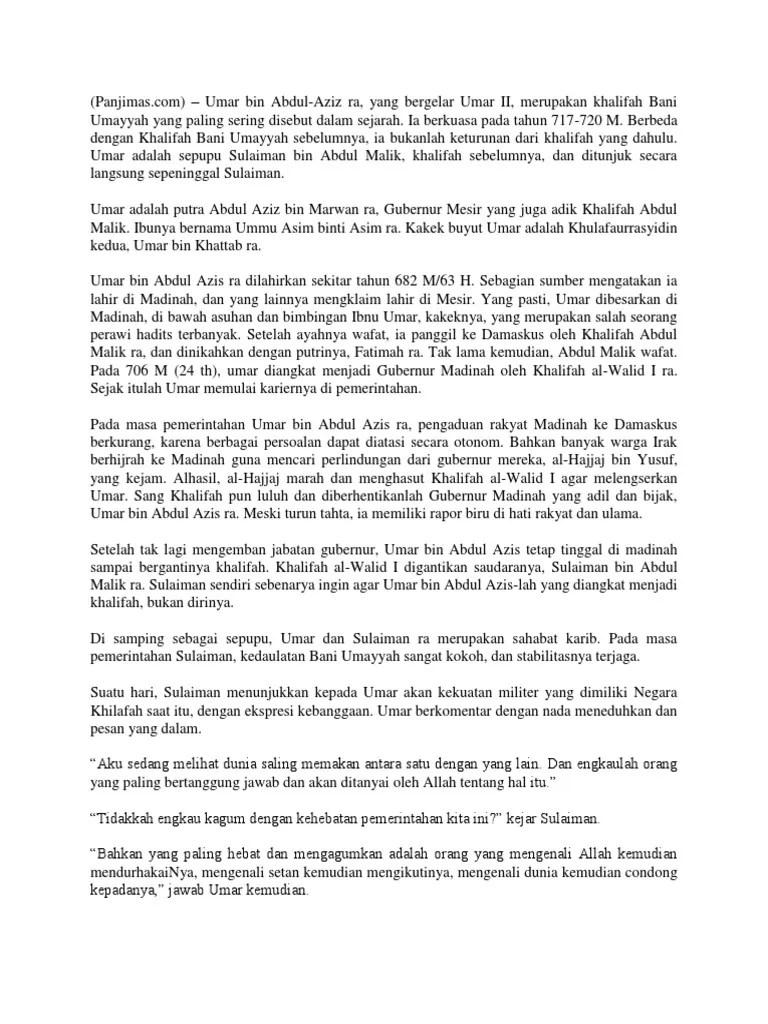 Kepemimpinan Umar Bin Abdul Aziz : kepemimpinan, abdul, Abdul