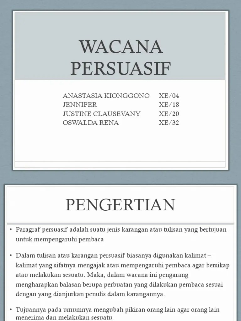 Pengertian Wacana Persuasi : pengertian, wacana, persuasi, WACANA, PERSUASI