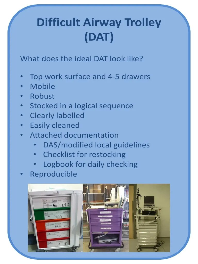 Difficult Airway Trolley DAS   Medicine   Medical Equipment