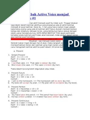 Cara Mengubah Kalimat Aktif Menjadi Pasif : mengubah, kalimat, aktif, menjadi, pasif, Mengubah, Active, Voice, Menjad, Passive, Language, Mechanics