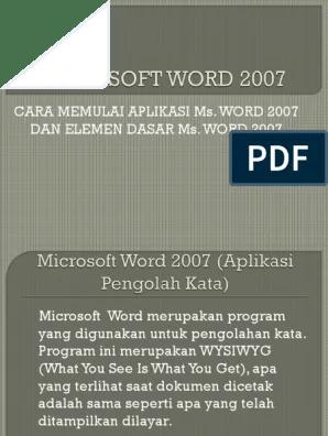 Microsoft Word Merupakan Aplikasi Pengolah : microsoft, merupakan, aplikasi, pengolah, Microsoft, (Aplikasi, Pengolah, Kata)