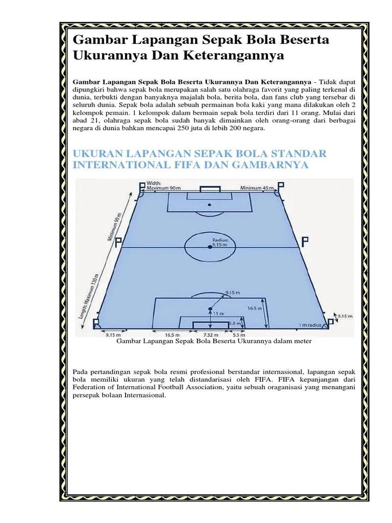 Lapangan Sepak Bola Dan Keterangan : lapangan, sepak, keterangan, Gambar, Bentuk, Lapangan, Sepak, Beserta, Ukurannya, Seputar