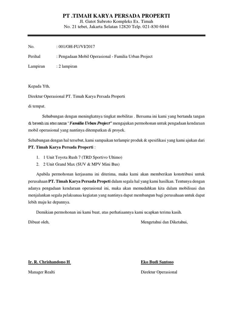 Surat Pinjam Pakai Kendaraan Masnurul