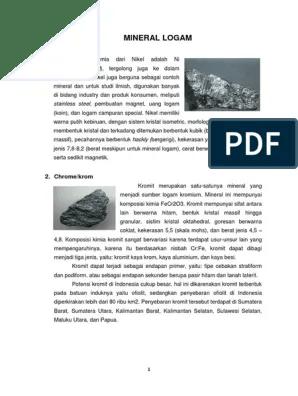 Manfaat Mineral Logam : manfaat, mineral, logam, Barang, Tambang, Bukan, Logam, Adalah, BARANG
