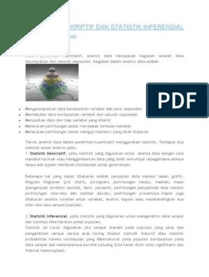 Statistik Deskriptif Dan Inferensial : statistik, deskriptif, inferensial, STATISTIK, DESKRIPTIF, INFERENSIAL.docx