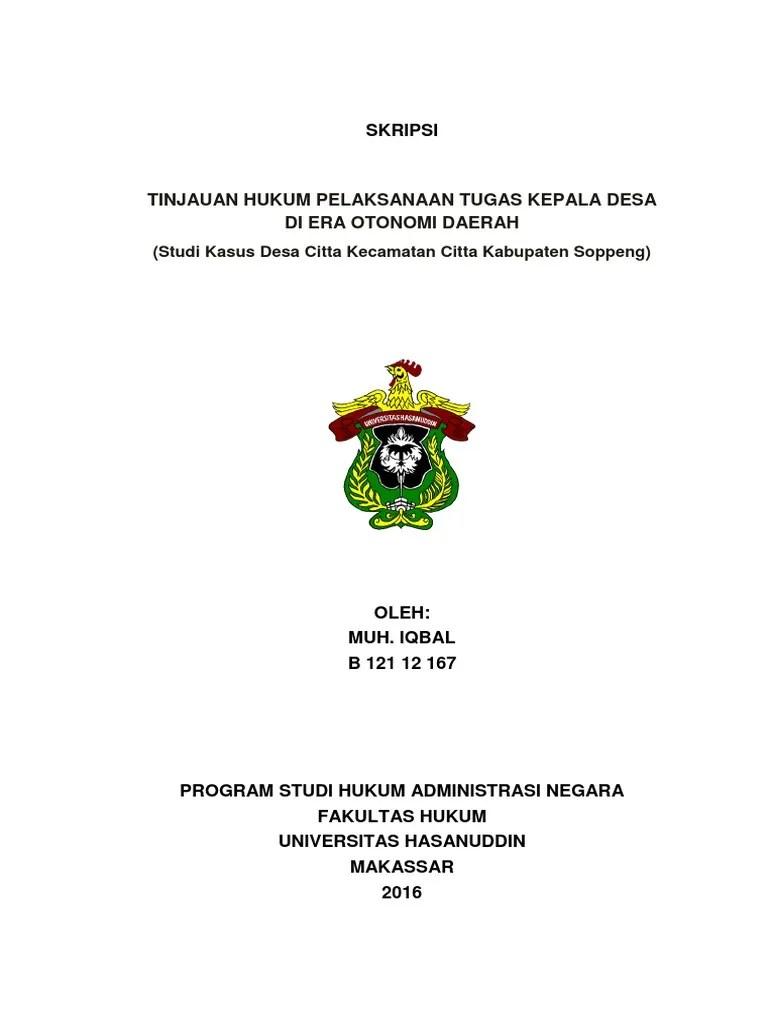 Skripsi Hukum Tata Negara Islam Pdf