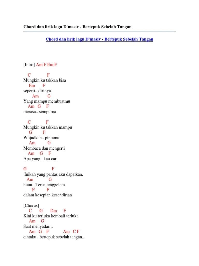 Chord Gitar D'masiv Sudahi Perih Ini : chord, gitar, d'masiv, sudahi, perih, Kunci, Gitar, Masiv, Perih, Belajar