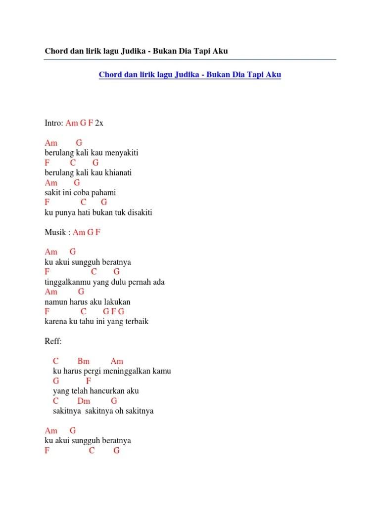 Lirik Bukan Dia Tapi Aku : lirik, bukan, Bukan, Lirik, Chord, Walls