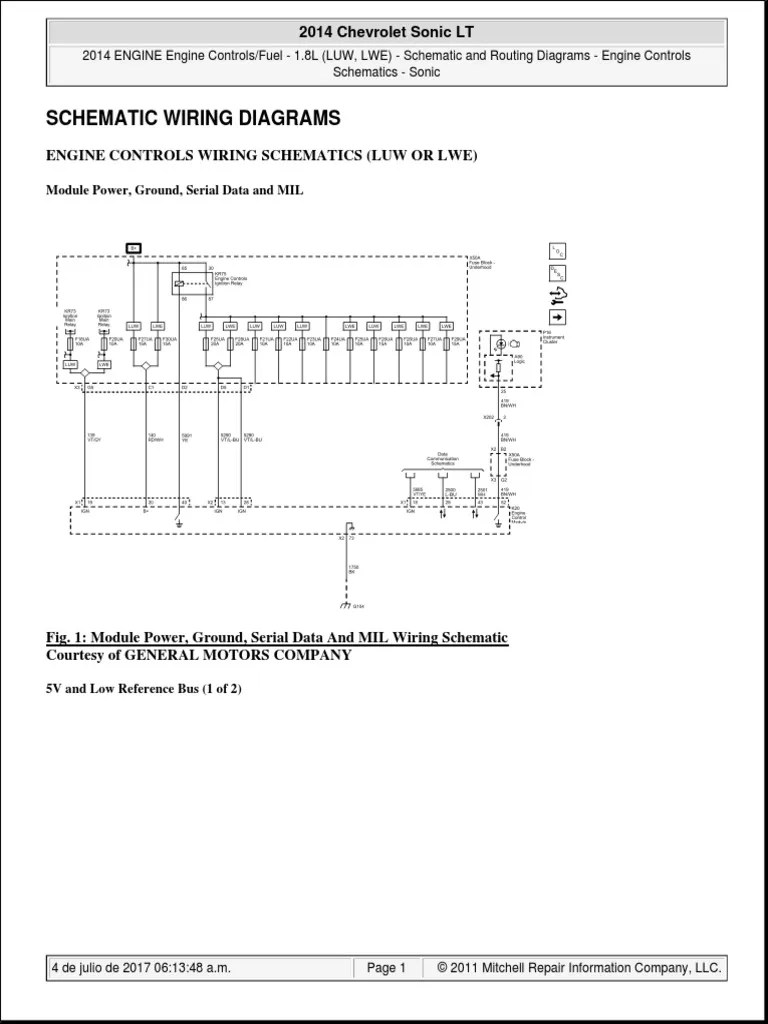 2014 chevrolet sonic lt pdf ignition system fuel injection gm factory wiring diagram wiring diagram chevrolet sonic [ 768 x 1024 Pixel ]