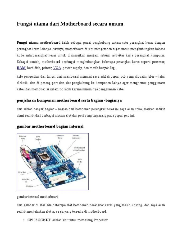 Jelaskan Fungsi Dari Motherboard : jelaskan, fungsi, motherboard, Untitled, 1.odt