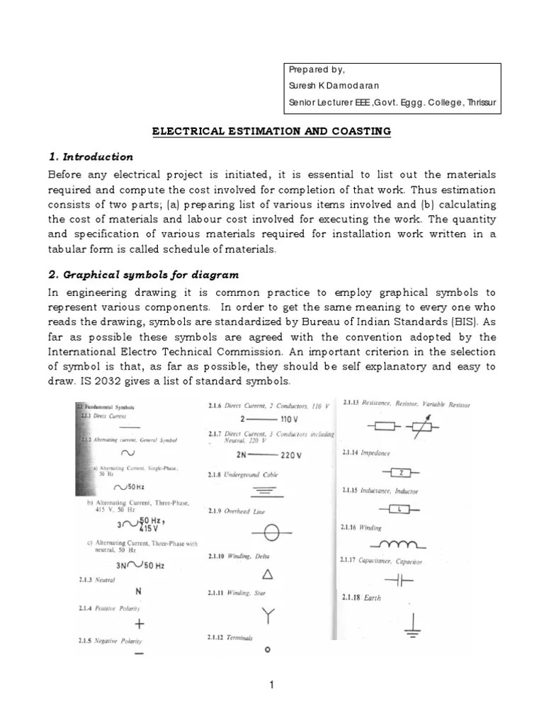 medium resolution of electrical estimation costing pdf estimating models electrical wiring estimating and costing notes