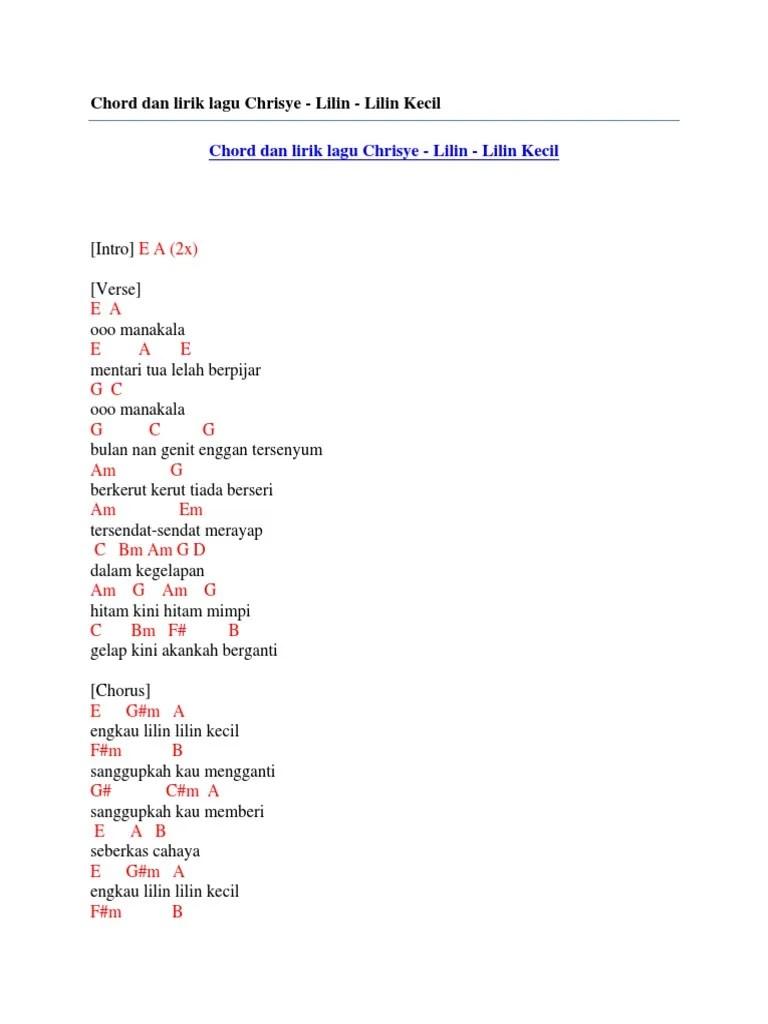 Chord Kunci Gitar dan Lirik Lilin Kecil Chrisye: Engkau