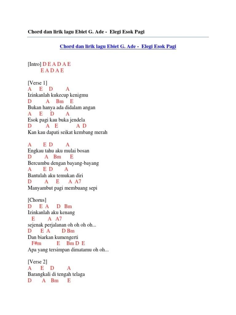 Lirik Lagu Elegi Esok Pagi : lirik, elegi, Lirik, Ebiet, Elegi, Bagaimana, Dubai, Khalifa