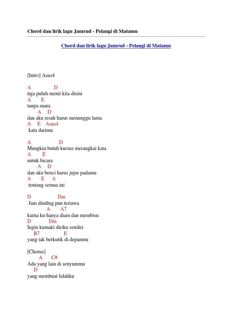 Pelangi Di Matamu : pelangi, matamu, Chord, Lirik, Jamrud, Pelangi, Matamu