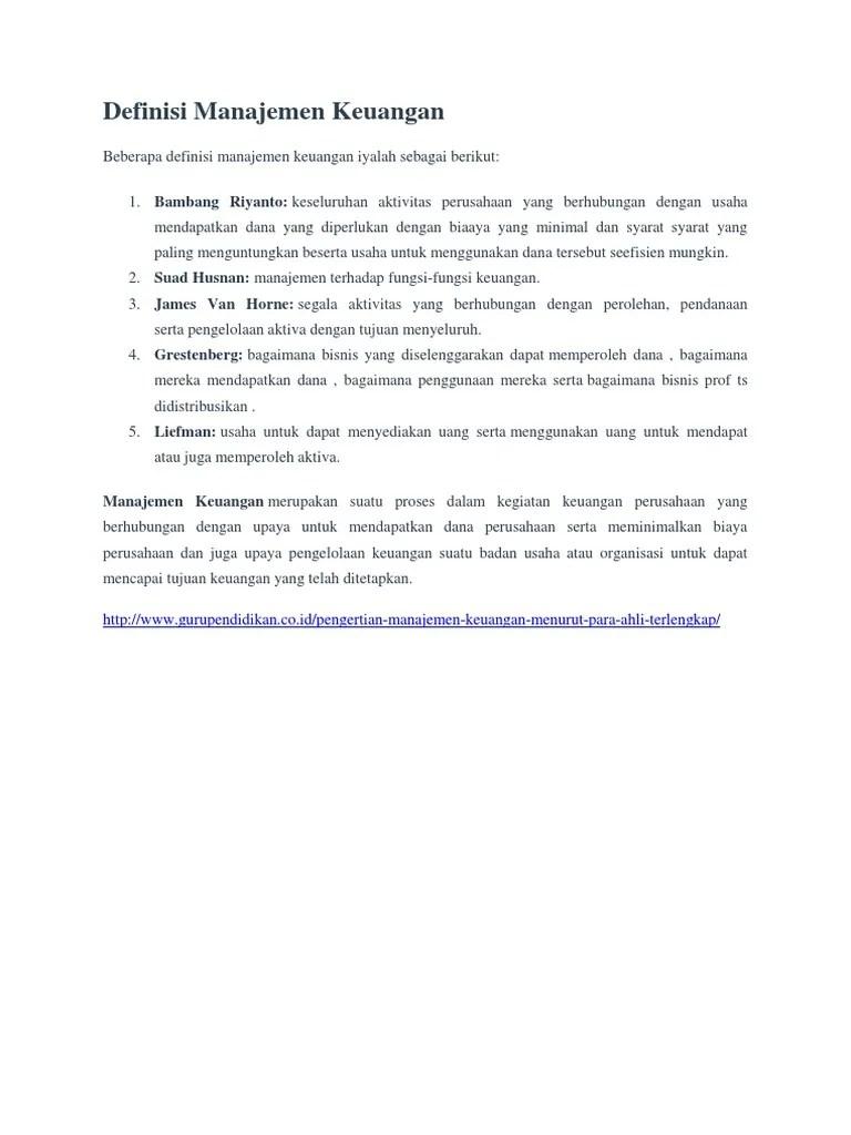 Pengertian Pengelolaan Keuangan : pengertian, pengelolaan, keuangan, Definisi, Manajemen, Keuangan.docx
