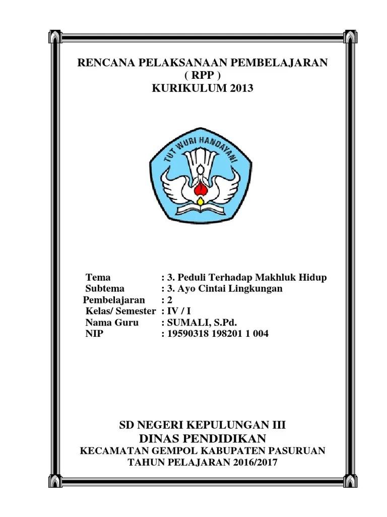 Sampul Rpp K13 : sampul, COVER, K13.docx