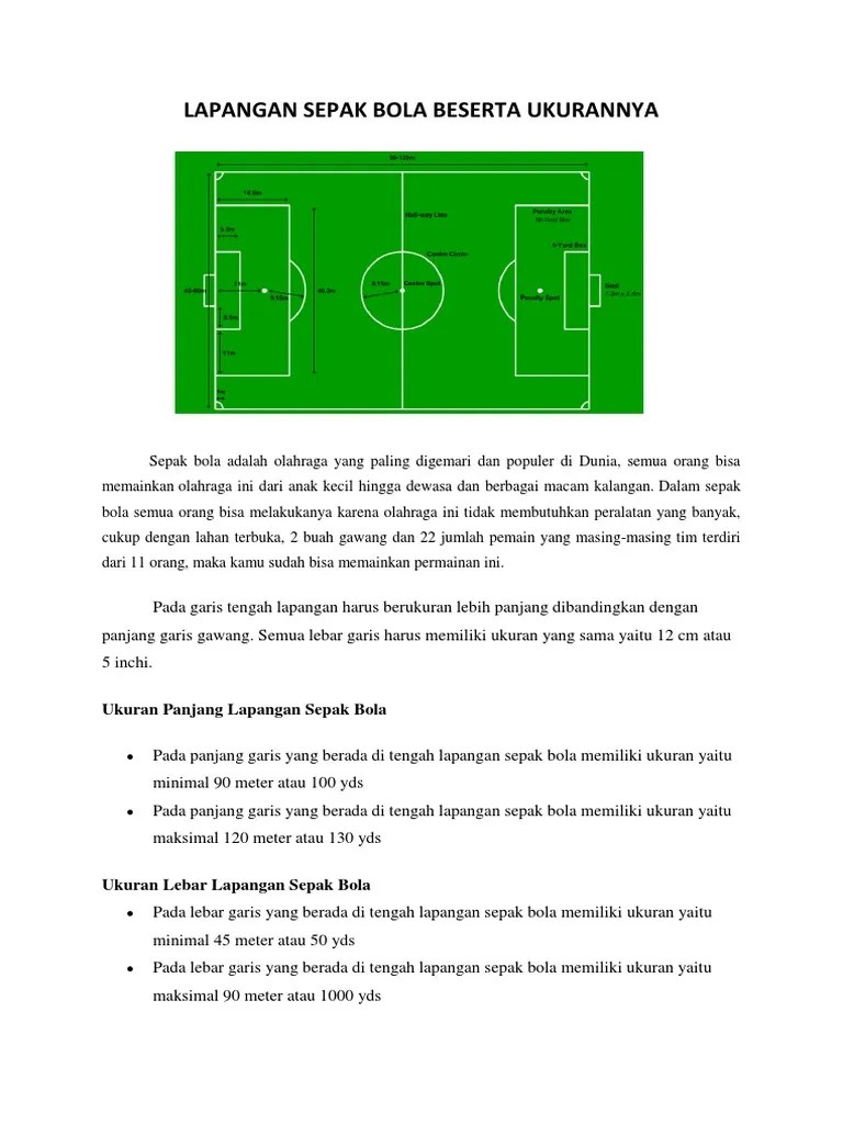 Lapangan Sepak Bola Dan Keterangan : lapangan, sepak, keterangan, Gambar, Ukuran, Lapangan, Sepak, Kekinian, Pixabay