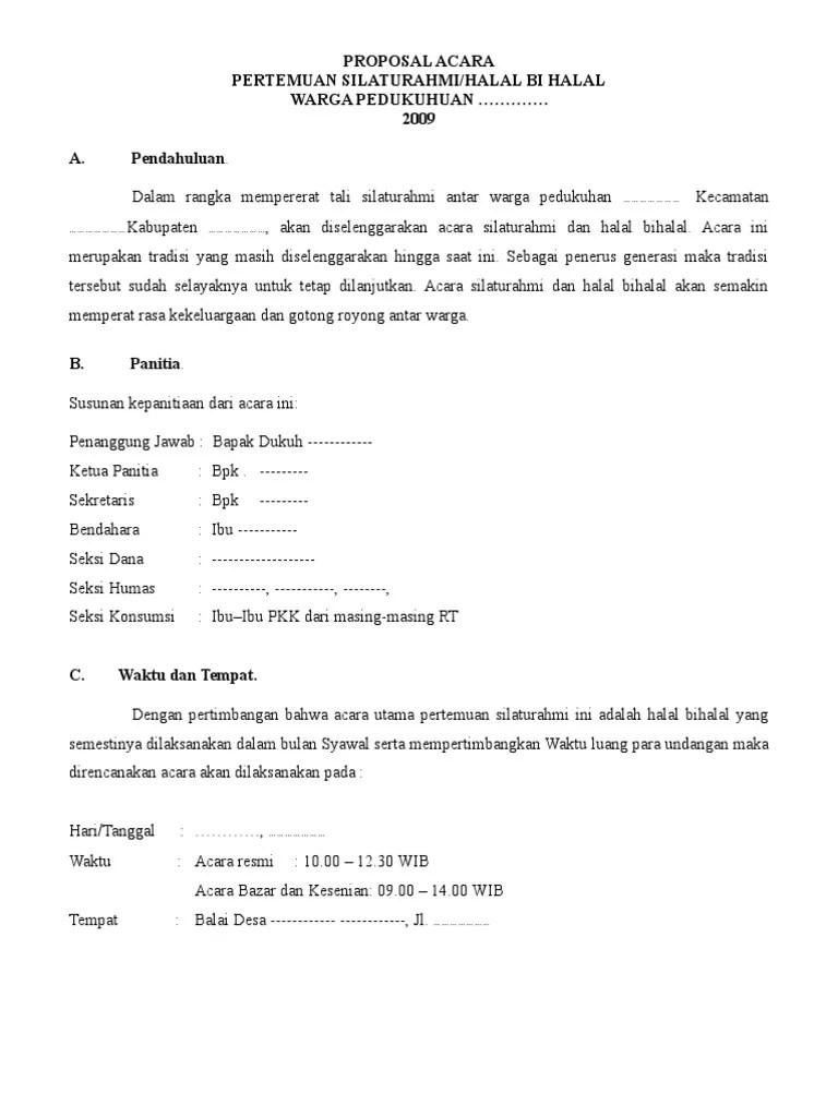Contoh Proposal Halal Bihalal : contoh, proposal, halal, bihalal, Proposal, Kegiatan, Halal