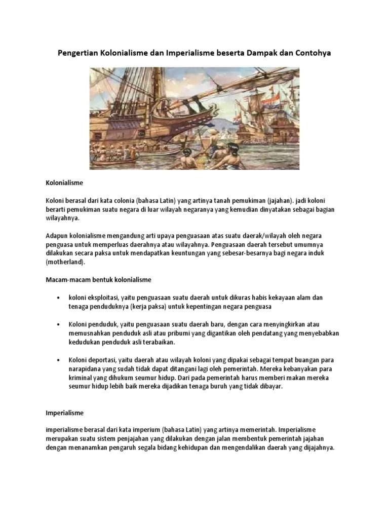 Arti Kolonialisme Dan Imperialisme : kolonialisme, imperialisme, Pengertian, Kolonialisme, Imperialisme, Beserta, Dampak, Contohya