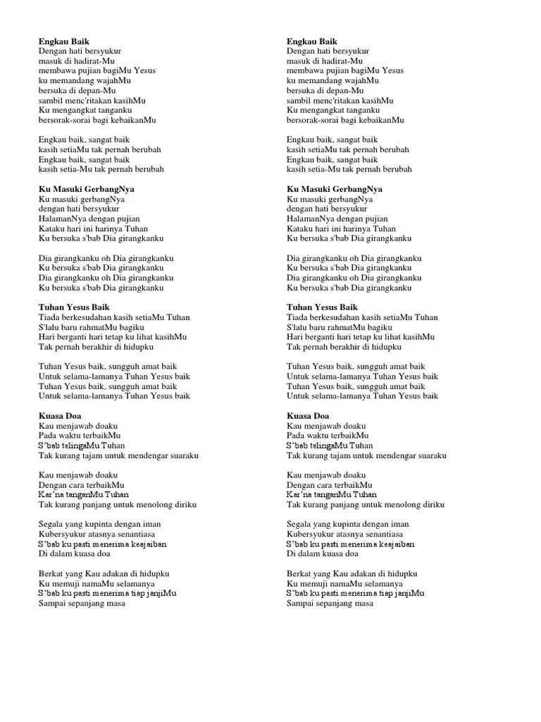 Lirik Kumasuki Gerbangnya : lirik, kumasuki, gerbangnya, Lirik
