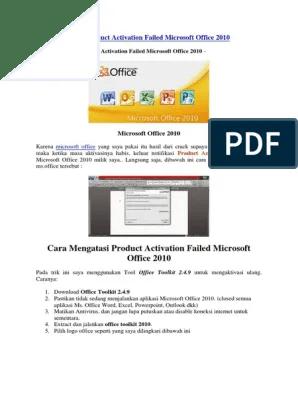 Cara Menghilangkan Product Activation Failed Office 2010 : menghilangkan, product, activation, failed, office, Mengatasi, Product, Activation, Failed, Microsoft, Office