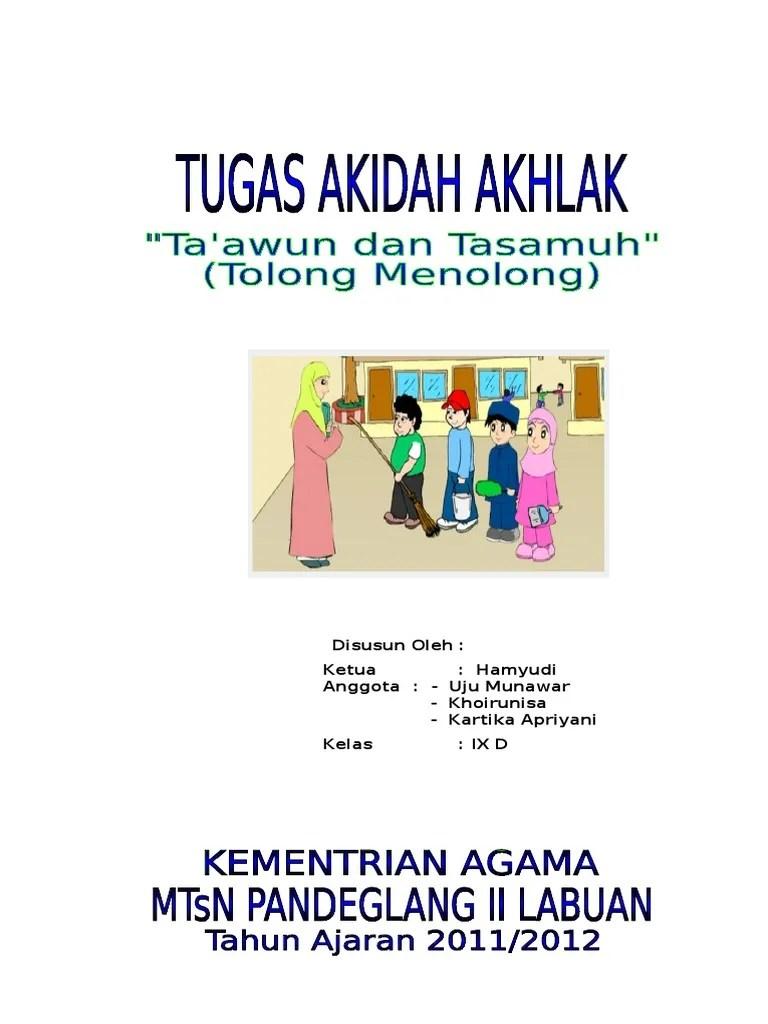 Contoh Tasamuh : contoh, tasamuh, Taawun, Tasamuh