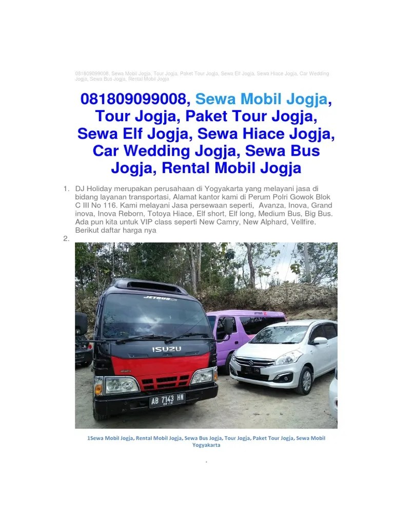 sewa mobil grand new avanza jogja g luxury 081809099008 rental tour bus elf hiace 27