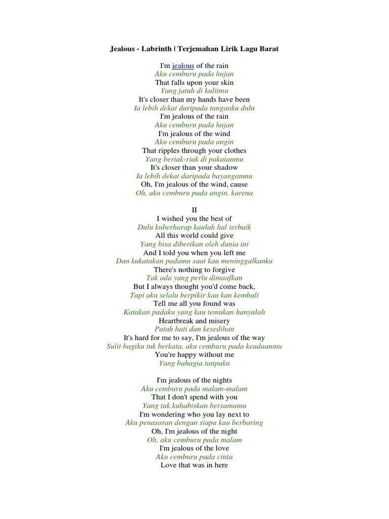 Lirik Dan Terjemahan Jealous Labrinth : lirik, terjemahan, jealous, labrinth, Lirik, Jealous, Labrinth