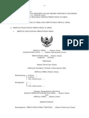 Permendagri No 111 Tahun 2014 Pdf : permendagri, tahun, Lampiran, Permendagri, Tahun, 2014(1)