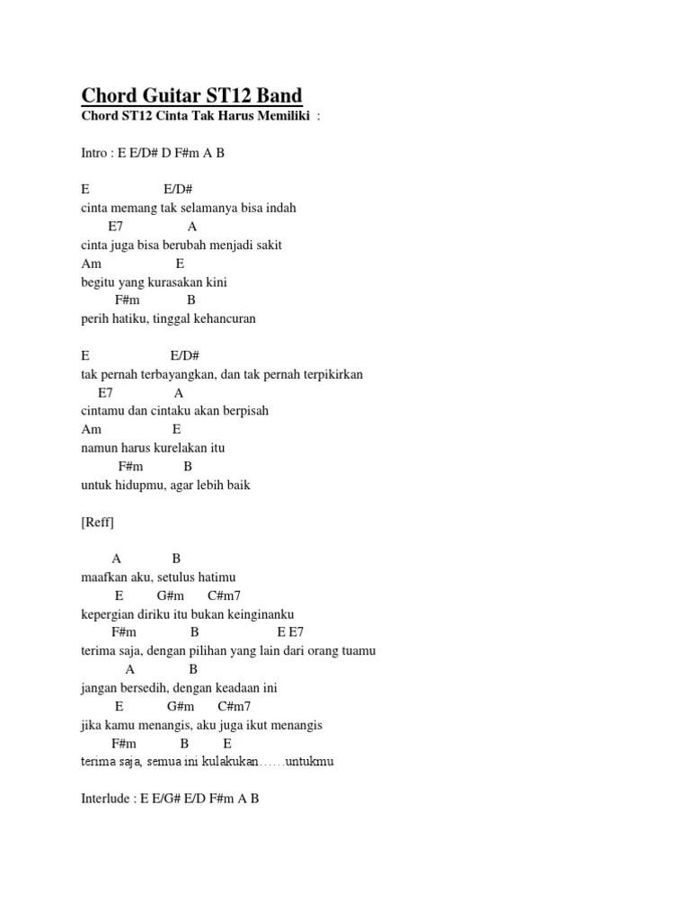 St 12 - Cinta Tak Direstui (TUTORIAL CHORD GITAR MUDAH)