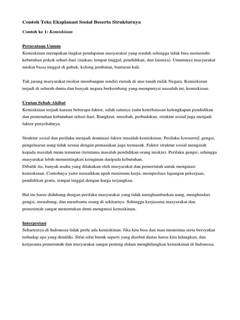 Teks Eksplanasi Beserta Strukturnya : eksplanasi, beserta, strukturnya, Contoh, Eksplanasi, Singkat, Tentang, Sosial, Budaya