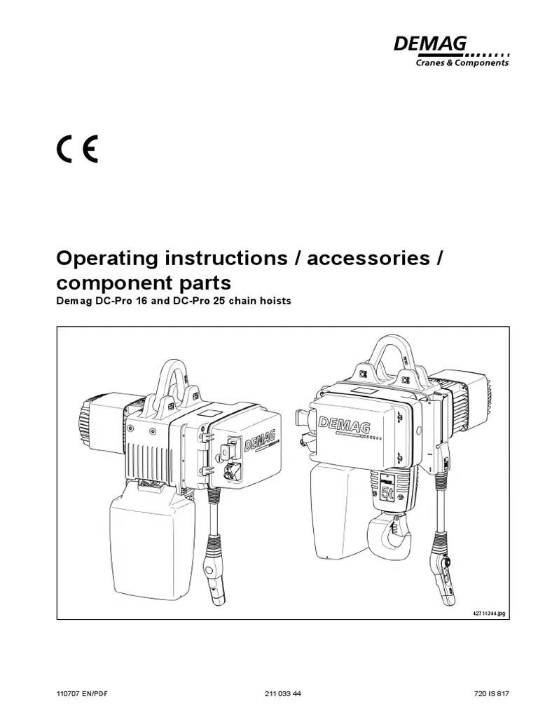 small resolution of demag chain hoist wiring diagram