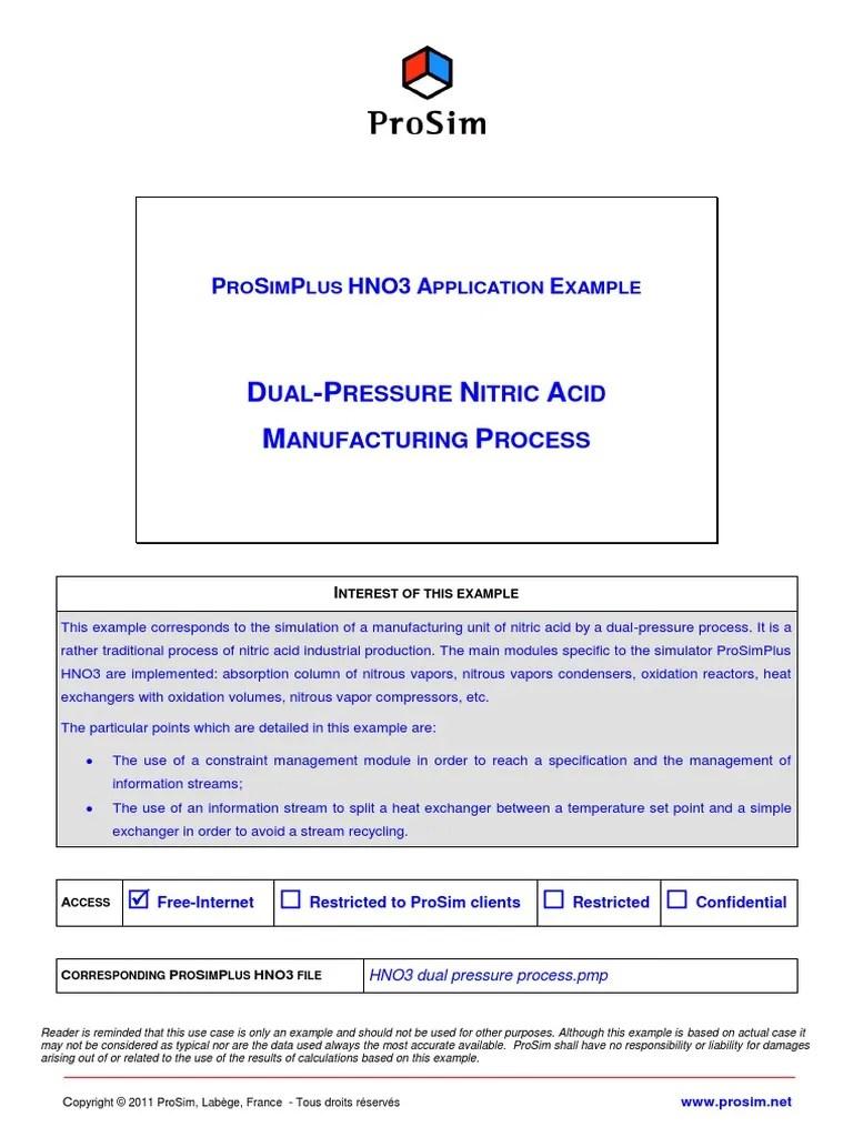 medium resolution of 182233588 dual pressure nitric acid process simulation results prosim pdf pdf nitrogen nitric acid