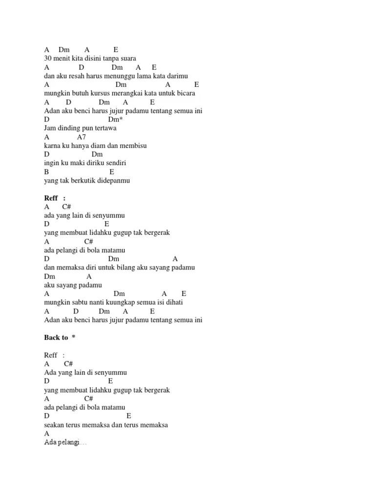 Kunci Gitar Pelangi di Matamu - Jamrud Chord Dasar ©ChordTela.com