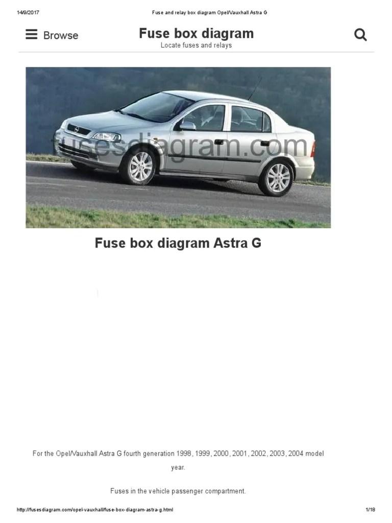 fuse box opel astra 2001 [ 768 x 1024 Pixel ]